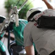 気分転換にバイクで昼食に。
