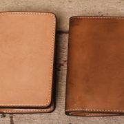 極上ヌメ革財布、手縫いシリーズの経年変化~3か月目