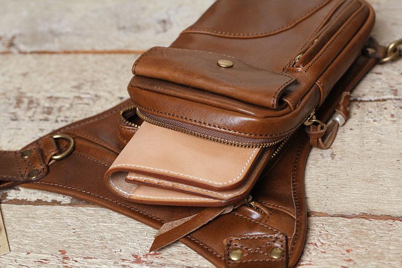 タンデム、レッグポーチ53150に長財布が入るか検証