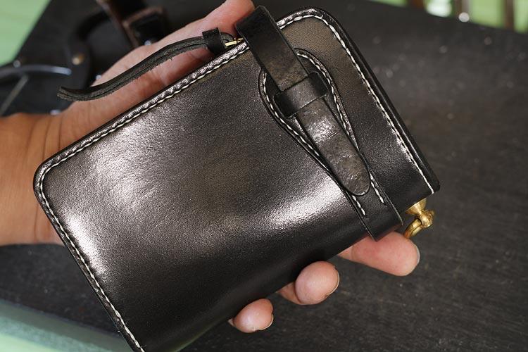 メンズ革財布をベルト留め仕様にカスタム制作