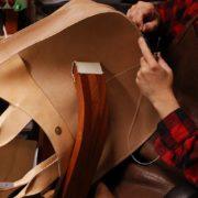 ヌメ革トートバッグをオーダーメイドで制作