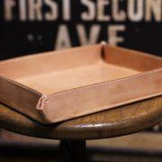 ヌメ革で小物トレーを作ってみた~制作風景