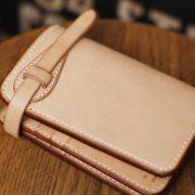 ミドル革財布にカード入れを増設、ベルト留めカスタム