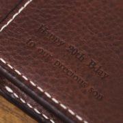エルバマットの革財布を名入れでオーダーメイド